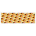 Fire Clownfish Pattern Bumper Sticker