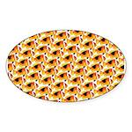 Fire Clownfish Pattern Sticker