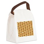 Fire Clownfish Pattern Canvas Lunch Bag