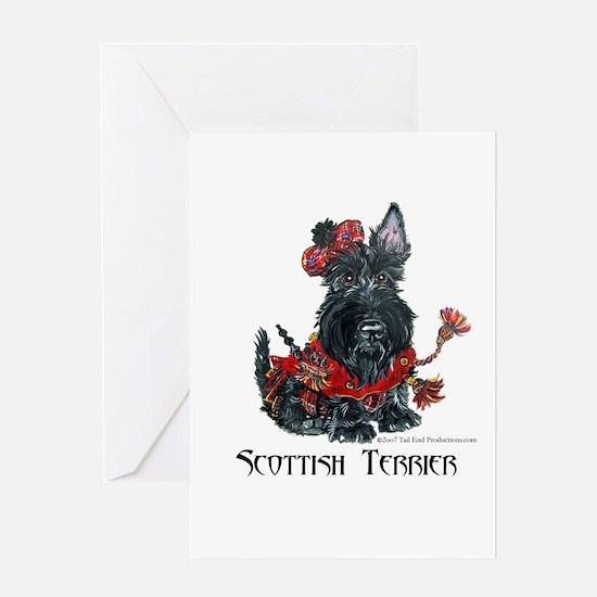 Celtic Scottish Terrier Greeting Card
