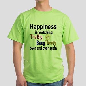 Happiness is The Big Bang Theory Green T-Shirt