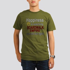 Happiness is watching Organic Men's T-Shirt (dark)
