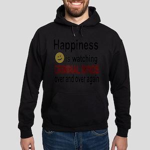 Happiness is watching CRIMINAL MINDS Hoodie (dark)