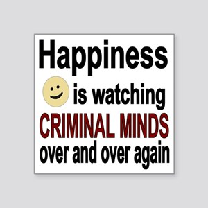 "Happiness is watching CRIMI Square Sticker 3"" x 3"""