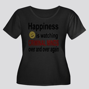 Happines Women's Plus Size Scoop Neck Dark T-Shirt