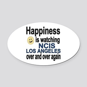 Happiness is watching NCIS Los Ang Oval Car Magnet