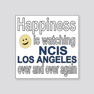"Happiness is watching NCIS  Square Sticker 3"" x 3"""