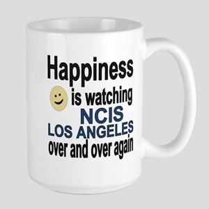 Happiness is watching NCIS Los Angeles  Large Mug
