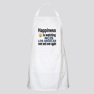 Happiness is watching NCIS Los Angeles over  Apron