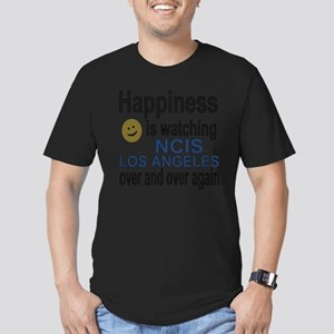 Happiness is watching  Men's Fitted T-Shirt (dark)