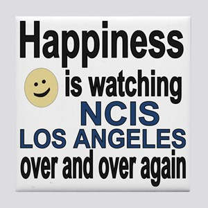 Happiness is watching NCIS Los Angele Tile Coaster