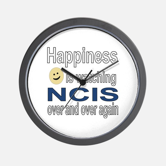Happiness is Watching NCIS Wall Clock