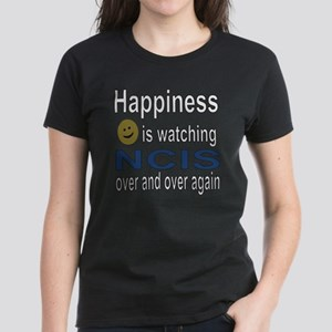 Happiness is Watching NCIS Women's Dark T-Shirt