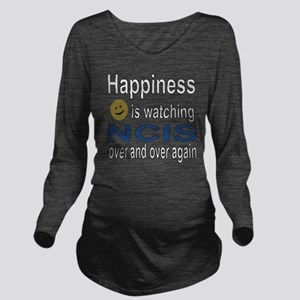 Happiness is Watchin Long Sleeve Maternity T-Shirt