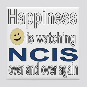 Happiness is Watching NCIS Tile Coaster
