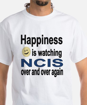 Happiness is Watching NCIS White T-Shirt