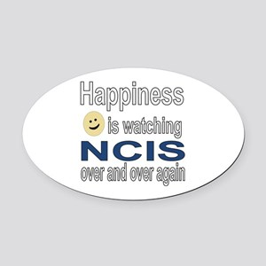 Happiness is Watching NCIS Oval Car Magnet