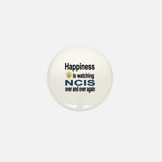 Happiness is Watching NCIS Mini Button