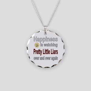 Happiness is Watching Pretty Necklace Circle Charm