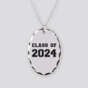 Class of 2024 Necklace Oval Charm