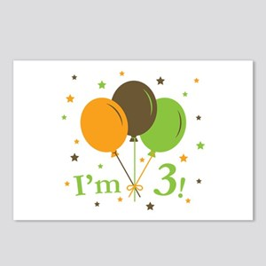 Retro Balloons I'm 3 Postcards (Package of 8)