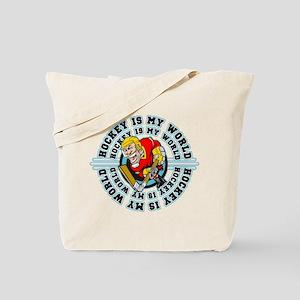 Hockey is my World Tote Bag
