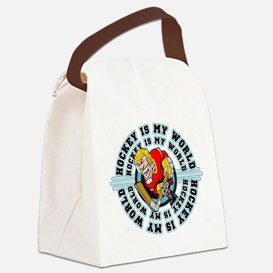 Hockey is my World Canvas Lunch Bag