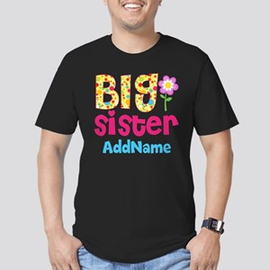Big Sister Pink Teal F Men's Fitted T-Shirt (dark)