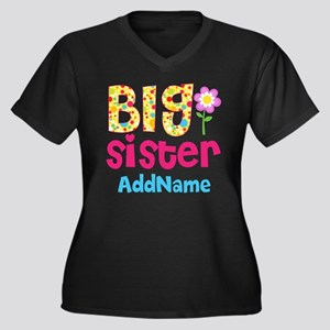 Big Sister P Women's Plus Size V-Neck Dark T-Shirt