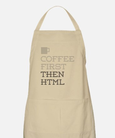 Coffee Then HTML Apron