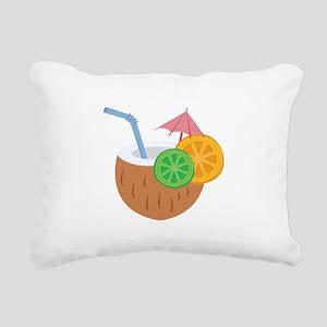 Tropical Drink Rectangular Canvas Pillow