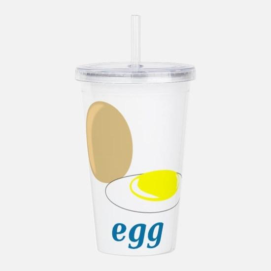 Egg Acrylic Double-wall Tumbler