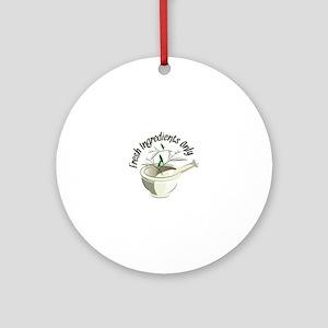 Fresh Ingredients Ornament (Round)
