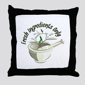 Fresh Ingredients Throw Pillow