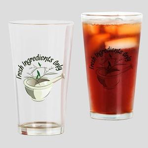 Fresh Ingredients Drinking Glass