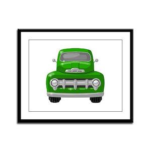 1951 Ford Pickup Framed Panel Print