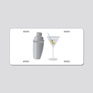 Martini Aluminum License Plate