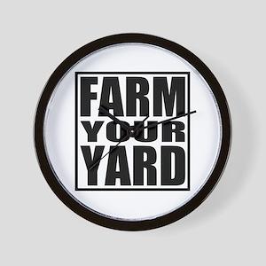 Farm Your Yard Wall Clock
