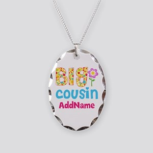 Big Cousin Floral Dots Persona Necklace Oval Charm
