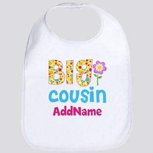 Big Cousin Floral Dots Personalized Bib