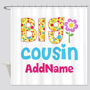 Big Cousin Floral Dots Personalized Shower Curtain