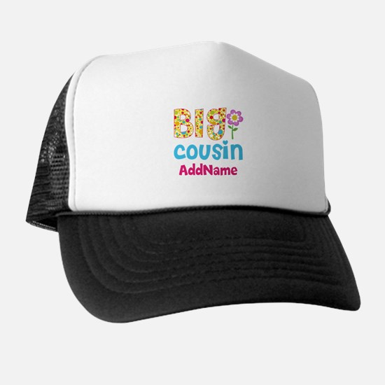 Big Cousin Floral Dots Personalized Trucker Hat