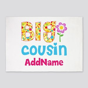 Big Cousin Floral Dots Personalized 5'x7'Area Rug