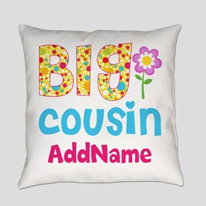 Big Cousin Floral Dots Personalize Everyday Pillow
