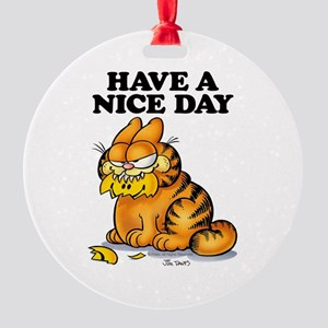 Have a Nice Day Round Ornament