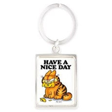 Have a Nice Day Portrait Keychain