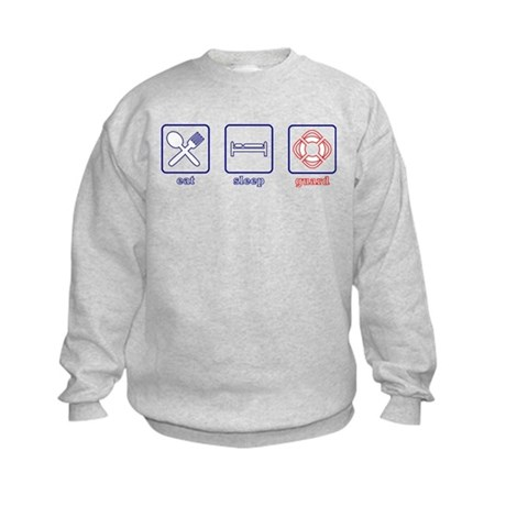 Eat. Sleep. Guard. Kids Sweatshirt