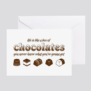 Life is like a box of chocolates Greeting Cards