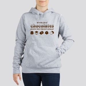 Life is like a box of chocolates Women's Hooded Sw