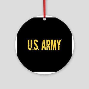 U.S. Army: Black & Gold Round Ornament